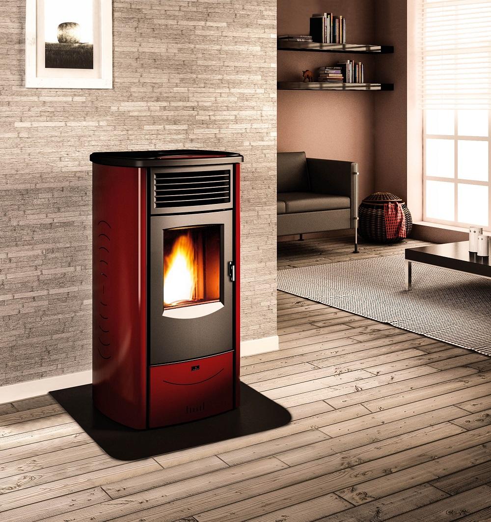 Pellet stoves superior monia estufas de pellet piazzetta - Estufa pellets ...