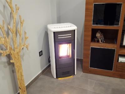 Canalización en chimenea de pellet Piazzetta P958 8,6kw reales